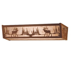 Meyda Tiffany Elk at Lake 4-Light Bath Bar