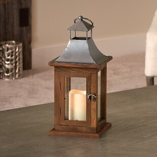 Read Reviews Portland Wood Lantern By Smart Living