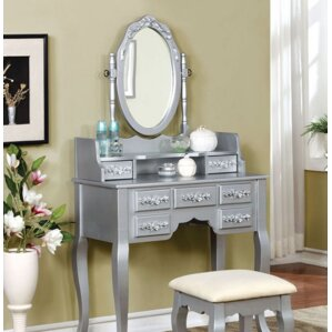 vanity and work desk combo. Hannah Vanity  Mirror Set Bedroom Makeup Vanities Joss Main