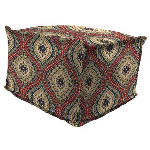 Winston Porter Wilford Flange Edge Pouf Ottoman with Cushion