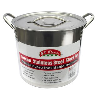 8-qt Stainless Steel Stock Pot with Lid