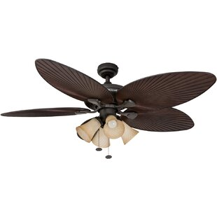 Best 52 Island Palm 1-Light Ceiling Fan Light Kit By Honeywell