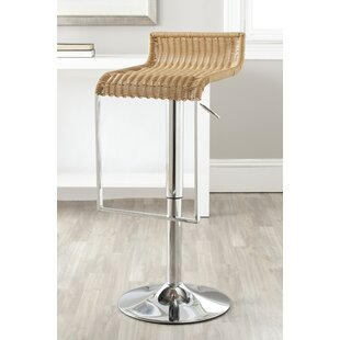 Falco Adjustable Height Swivel Bar Stool Highland Dunes
