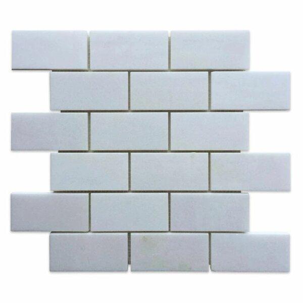 Tile Mosaic Depot 2 X 4 Marble Brick Joint Mosaic Wall Floor Tile Wayfair