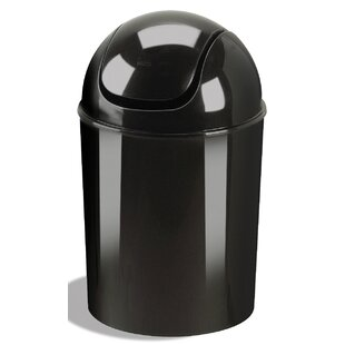 Plastic Swing Top Trash Can Set Of 6