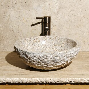 Allstone Group Stone Circular Vessel Bathroom Sink