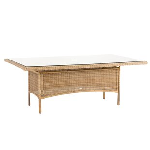 Cubagua Rattan Dining Table By Bay Isle Home