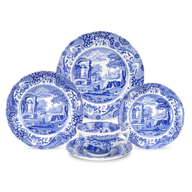Blue Italian 5-Piece Place Setting, Service for 1