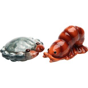Crab and Lobster Salt and Pepper Set