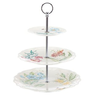 Butterfly Meadow Melamine 3 Tiered Tray