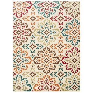 Kleinman all Over Floral Medallion Ivory Area Rug