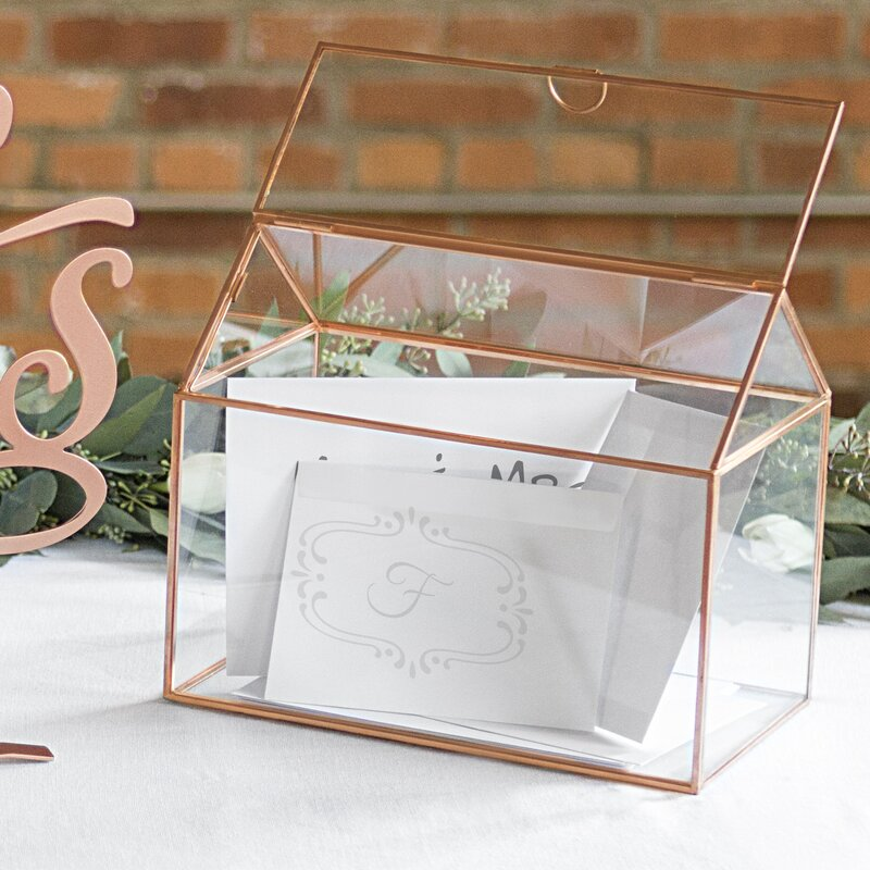 Personalized Terrarium Reception Gift Card Holder
