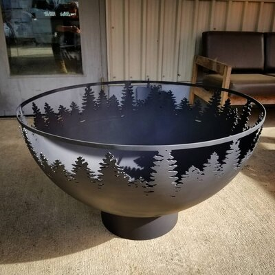 West Coast Firepits Woodlands Steel Wood Burning Fire Pit Finish: High Heat Black