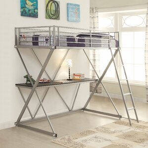 bunk beds & loft beds with desks | wayfair