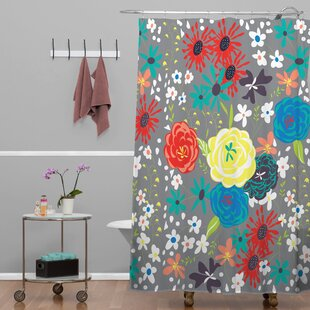 Compare prices Methodius Blooming Love Shower Curtain ByRed Barrel Studio