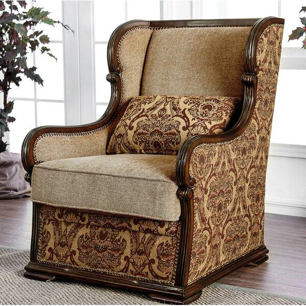 Ordinaire Wood Frame Wingback Chair | Wayfair