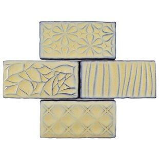 Antiqua Sensations 3 X 6 Ceramic Subway Tile In Yellow Light Blue