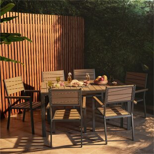 Njall 6 Seater Dinning Set By Sol 72 Outdoor