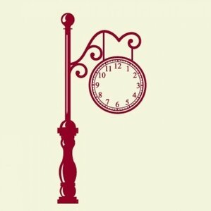 vintage french brillie station railway clock factory industrial double sided antic train station wall clock wall decal