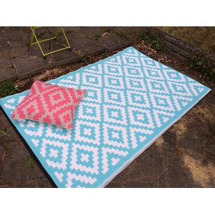 Nirvana Blue/White Indoor/Outdoor Area Rug