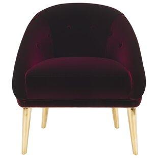 Everly Quinn Folden Velvet Armchair