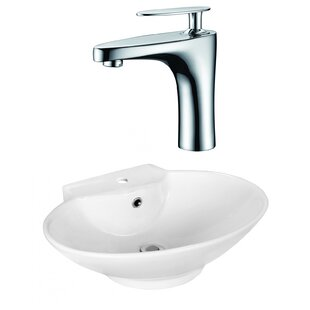 Affordable Above Counter Ceramic Oval Vessel Bathroom Sink with Faucet and Overflow ByRoyal Purple Bath Kitchen