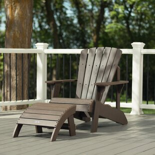 Plastic Adirondack Chair with Ottoman