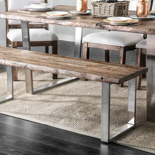 Gracie Oaks Margrett Wood Dining Bench