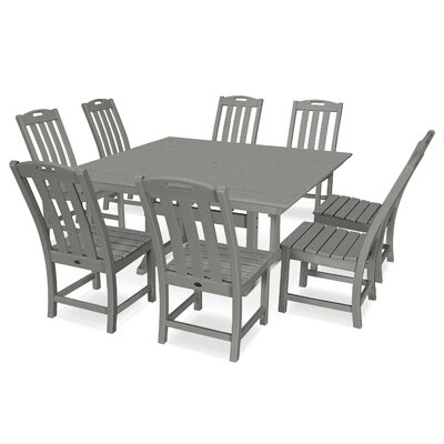 Yacht Club 9 Piece Dining Set Trex Outdoor Color: Stepping Stone
