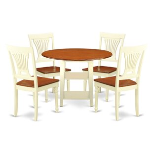 Tyshawn 5 Piece Drop Leaf Breakfast Nook Solid Wood Dining Set by Charlton Home 2019 Coupon