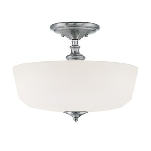 Charlton Home Genevieve 2-Light Semi-Flush Mount