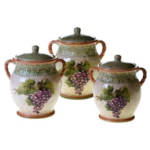 Sanctuary Wine 3-Piece Storage Jar Set