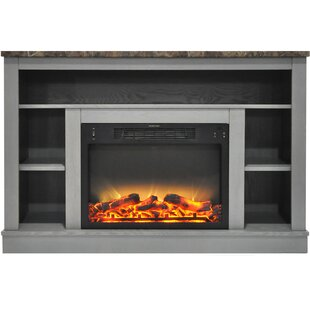 Charlton Home Eudora TV Stand with Electric Fireplace
