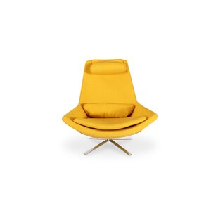 Blunt Modern Swivel Lounge Chair and Ottoman