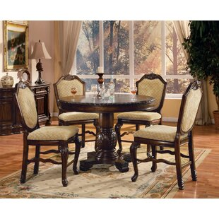 Musso Counter Height Solid Wood Dining Table Astoria Grand
