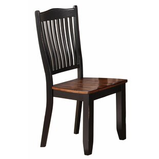 Loon Peak Manassa Solid Wood Dining Chair (Set of 2)