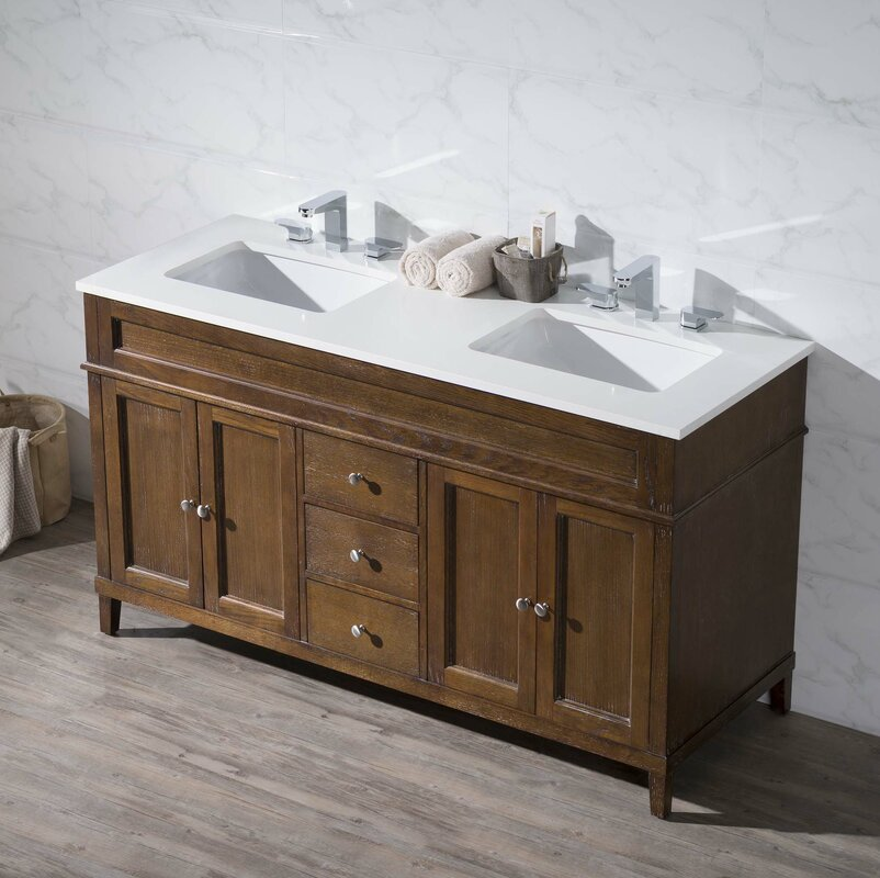 bathroom sink and vanity sets. Oakmont 59  Double Sink Bathroom Vanity Set Vanities You ll Love Wayfair