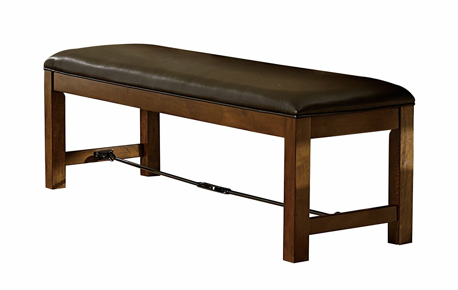 Harriet Wood And Leather Dining Bench