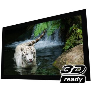 White Fixed Frame Projection Screen Elunevision