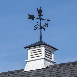 Wood Cupola With Eagle Weathervane