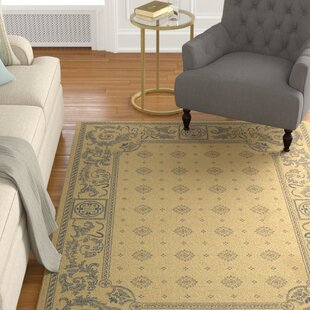 Carsen Natural/Blue Indoor/Outdoor Area Rug