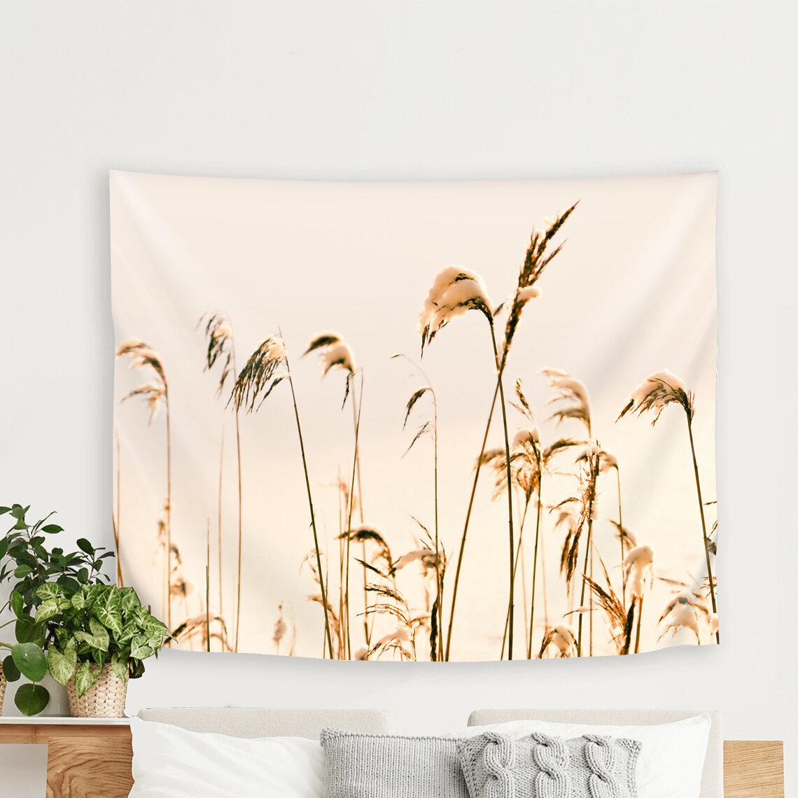 East Urban Home Mirja Paljakka Reeds At Winter Tapestry Wayfair
