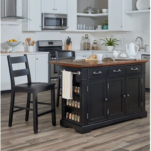 August Grove Hewish Kitchen Island Set