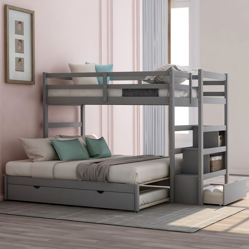 Isabelle Max Eming Island Twin Over Twin Bunk Bed With Trundle Wayfair