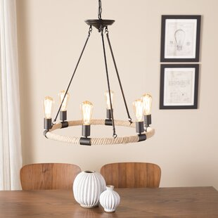 Breakwater Bay 6-Light Wagon Wheel Chandelier