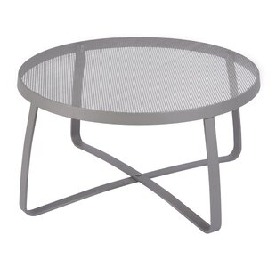 Round outdoor metal table Fermob Quickview Wayfair Round Patio Coffee Tables Youll Love Wayfair