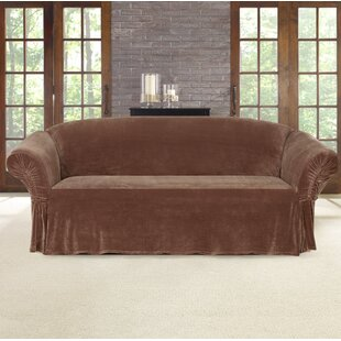 Stretch Plush Box Cushion Sofa Slipcover