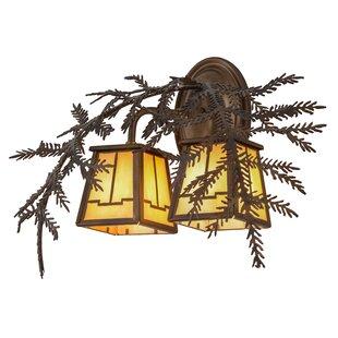 Purchase Greenbriar Oak 2-Light Outdoor Wall Lantern By Meyda Tiffany