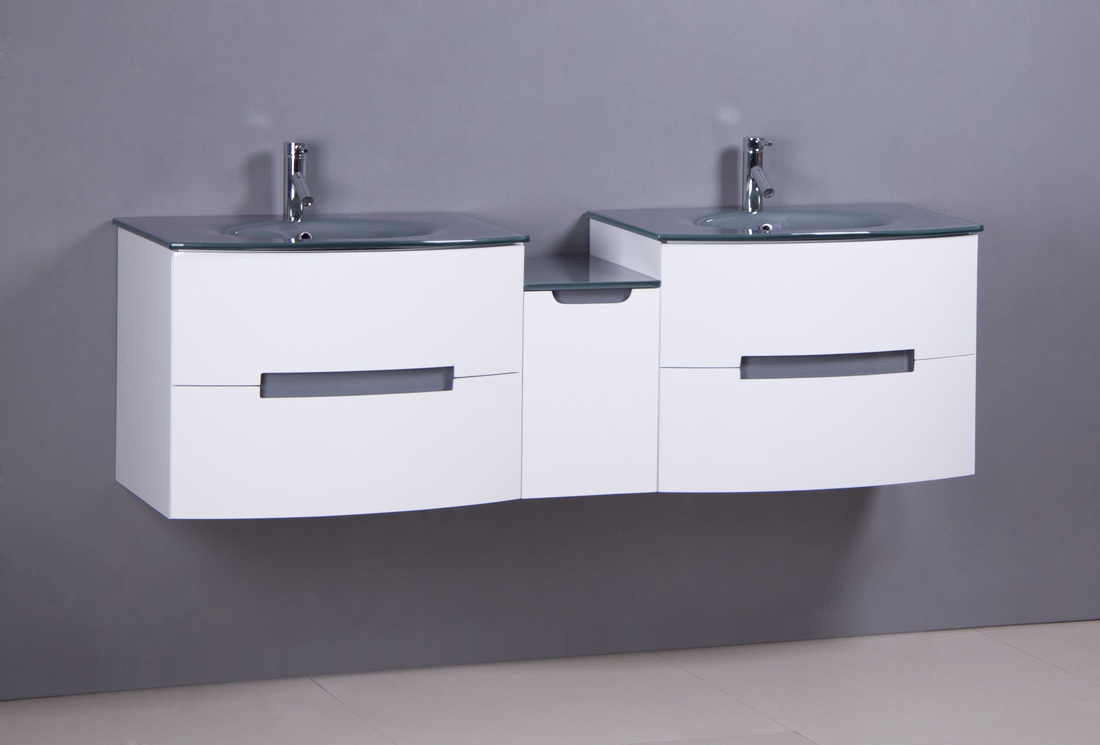 Orren Ellis Sandstrom 72 Wall Mounted Double Bathroom Vanity Set Wayfair