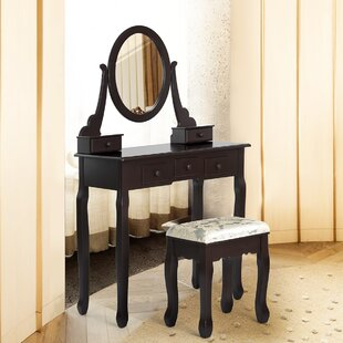 Bletchley Dressing Table Set With Mirror By Canora Grey